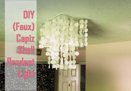 diy faux capiz shell pendant light chandelier
