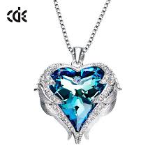blue heart necklace images Blue heart crystal necklace presents to buy your girlfriend jpg