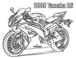 2008 yamaha r6 motorcycle colouring colouring tube