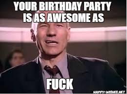 Jean Luc Picard Meme - best funny star trek birthday meme happy wishes