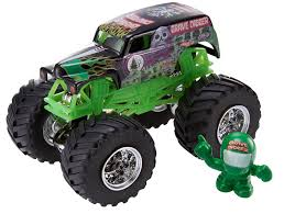 monster trucks grave digger crashes amazon com wheels monster jam grave digger vehicle 1 64
