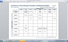 design elements matrix 16 design elements and principles visual identification images