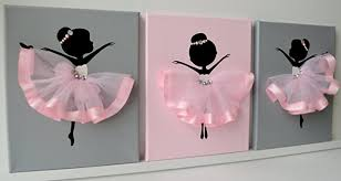 Ballerina Nursery Decor Ballerina Nursery Wall Pink And Grey Ballerina