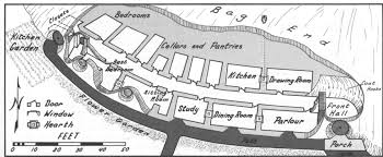 Floor Plans With Secret Passages Map Of Bag End Now We All Know How To Build Our Hobbit Holes Lotr