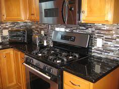 Kitchen Kitchen Backsplash Ideas Black Gran by Granite Kitchen Backsplash Black Galaxy Granite Countertop Kitchen