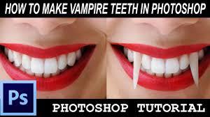 Vampire Teeth Photoshop Tutorial How To Make Vampire Teeth Youtube