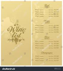 free wine list template royalty free wine list menu card design template 87284095 stock wine list menu card design template 87284095