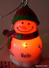 vicki ganz snowman personalized name ornament snowman