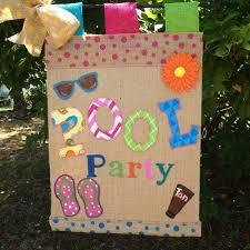 pool party garden flag summer garden flag birthday party