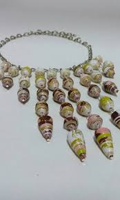 etsy handmade bead necklace images Choker dangle handmade bead necklace paper beads tribal etsy jpg