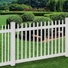 wam bam no dig fence nantucket vinyl picket with post and pipe
