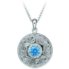 blue sterling silver necklace images Silver swiss blue celtic warrior pendant 18 quot chain shop jpg