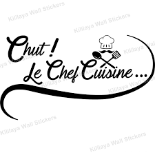 stickers le chef cuisine vinyl wall decals removable