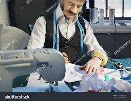 designer working his desk over sketch stock photo 593951036