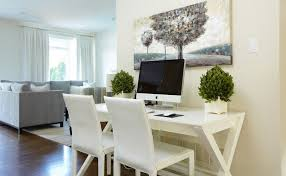 Home Office With Sofa Designing Your Home Office With Professional White Accent Homesfeed