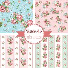 Shabby Chic Rose by Shabby Chic Rose Patterns Set Seamless Pattern Vintage Floral