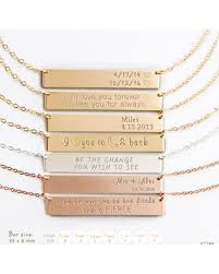 personalized bar necklace deals on personalized bar necklace engraved bar necklace initial