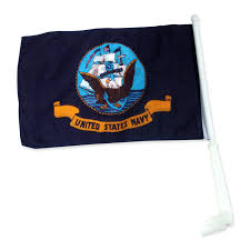 Decorative Sports Flags Navy Car Flag