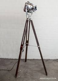 edison style floor l vintage floor l black tripod antique retro industrial theatre