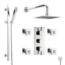 hudson reed kia 3 outlet thermostatic shower system set triple hudson reed kia 3 outlet thermostatic shower system set triple divertor valve ultra thin 8