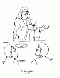 Holy Week Coloring Pages 437188 Last Supper Coloring Page