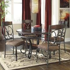 signature design by ashley glambrey round dining table and 4 chair