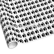 custom wrapping paper black dog footprints custom wrapping paper rolls gift roll