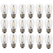 newhouse lighting outdoor 2w s14 led replacement string light bulbs