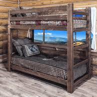 Rustic Bunk Bed Log Bunk Beds Rustic Bunk Beds Log Loft Beds