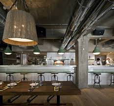 interior inspiring restaurant design with industrial theme