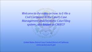 Civil Cover Sheet Federal by How To E File A Civil Complaint Youtube