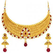 gold necklace sets designs images Online shopping sukkhi designer jalebi gold plated necklace set jpg