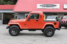 2006 jeep rubicon unlimited 2006 orange jeep wrangler unlimited rubitrux conversion for sale