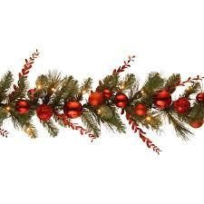 pre lit faux pine ornament garland reviews joss