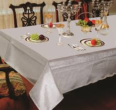 hotel metallic tablecloth liner in silver