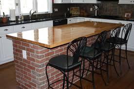 brick kitchen ideas kitchen interesting brick kitchen island with butcher block