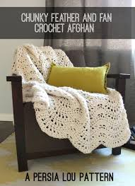 extra large feather fans chunky feather and fan crochet blanket free pattern persia lou