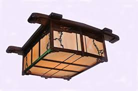 Arts And Crafts Ceiling Lights by Greene U0026 Greene Style Ceiling Light Fixture Craftsman Lighting