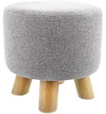 amazon com ottoman pouf round footstool foot rest with removable
