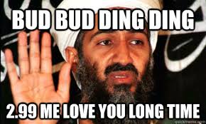 Me Love You Long Time Meme - bud bud ding ding 2 99 me love you long time binladen quickmeme