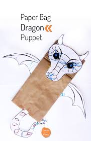 paper bag dragon puppet create in the chaos