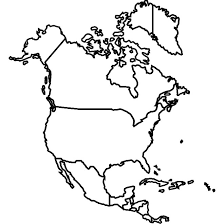 map usa y canada usa canada mexico vector map at vectorportal