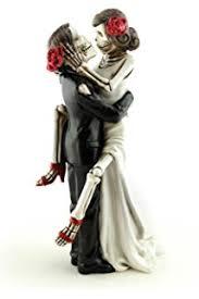 skeleton wedding cake toppers and groom skeletons wedding statue cake topper