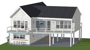 narrow waterfront house plans small beach house plans on pilings breathtaking sle design