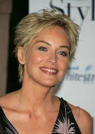 spiky short hairstyles for women over 50 short pixie cut for women over 50 sharon stone hair style