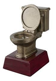 amazon com gold toilet bowl trophy last place award potty