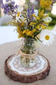 Mason Jars Wedding Centerpieces by Best 25 Wildflower Centerpieces Ideas On Pinterest Jam Jar