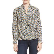 pleione blouse pleione faux wrap blouse splendid paradise