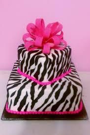 pink zebra print sheet cake