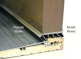 Replacing An Exterior Door Threshold Front Door Sweep Install Exterior Door Threshold On Concrete